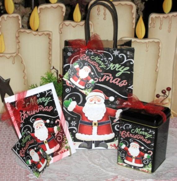 Christmas Santa Gift Bag Set