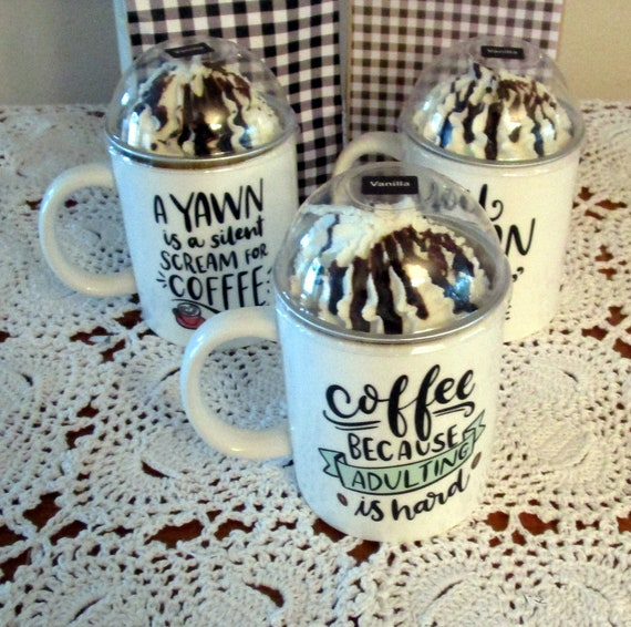 Coffee Cup Candle Dessert