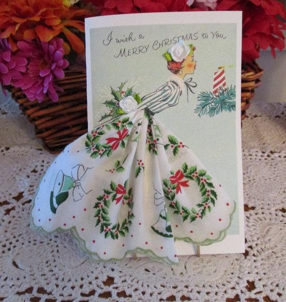 Holiday Keepsake Hankie Card