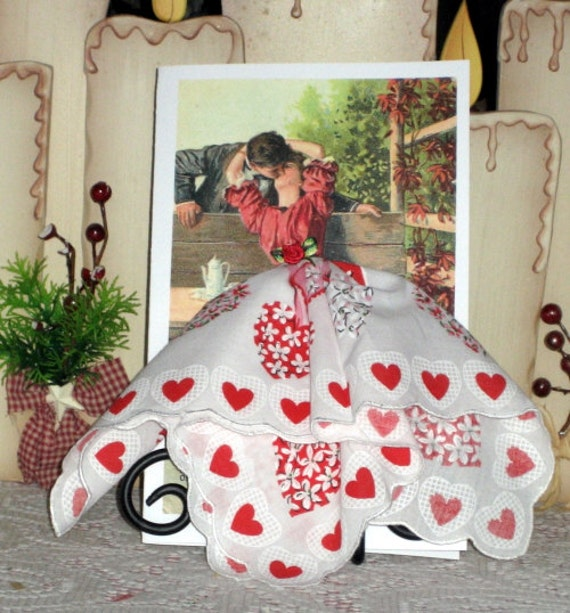 The Kiss Valentine Keepsake Hanky Card
