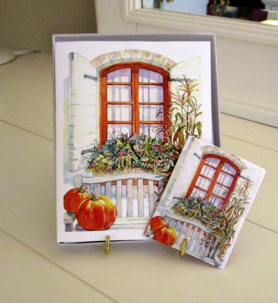 Windows For all Seasons Note Cards Gift