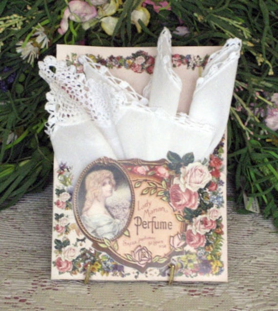 Perfume Keepsake Hanky Card