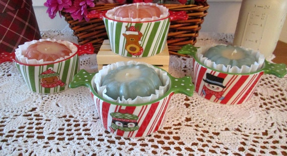 Christmas Treat Crock with Bundt Candle