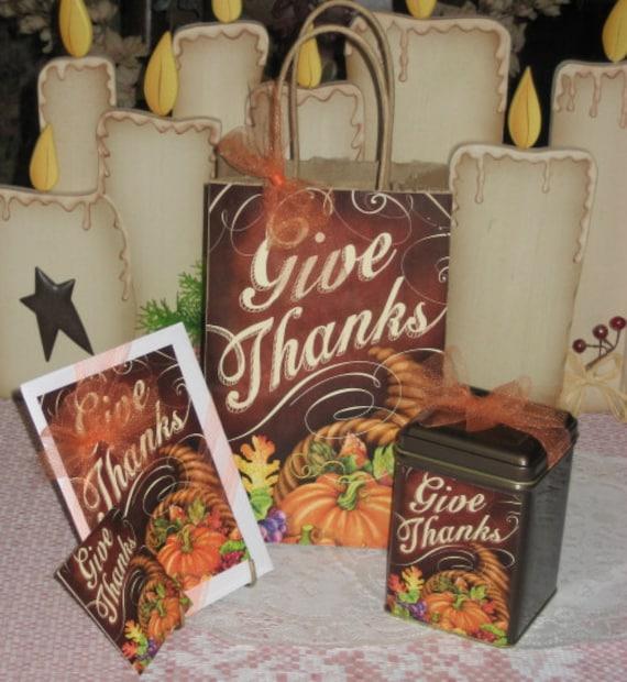 Give Thanks Gift Bag Set