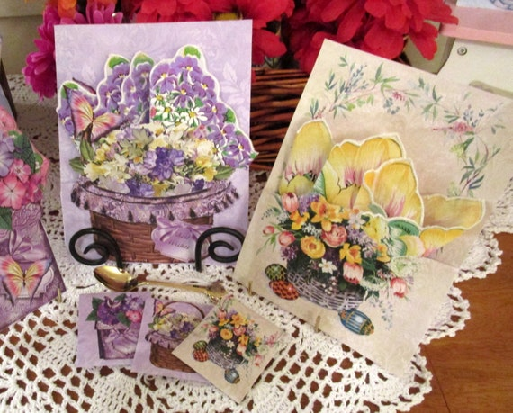 Flower Keepsake Hankie Cards