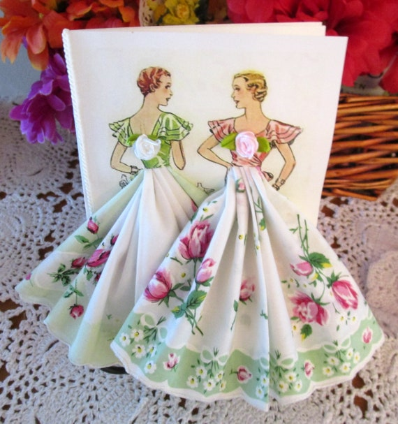 Fashion Hankie Keepsake Cards