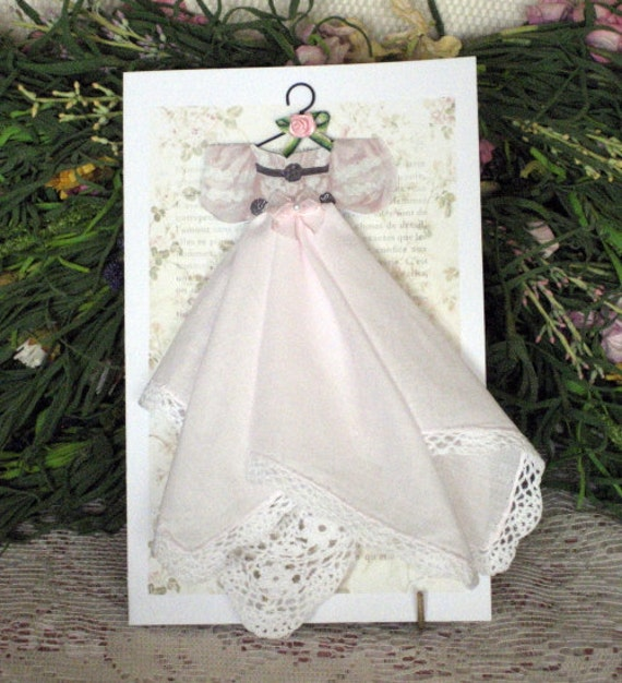 Party Dress Keepsake Hanky Card