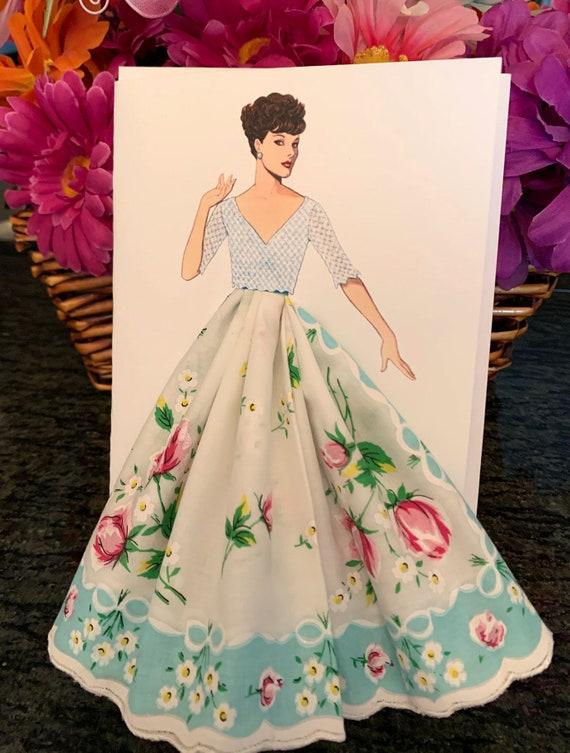 1952 Sybil Connoly Keepsake Hanky Card