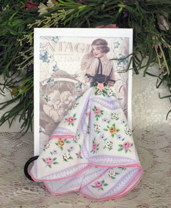 Vintage Lady Hanky Card