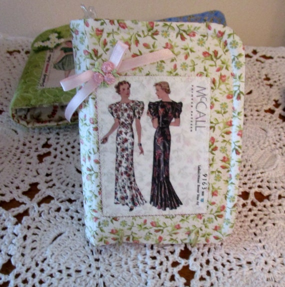 Fabric Notepad and Pen Set and Pincushion