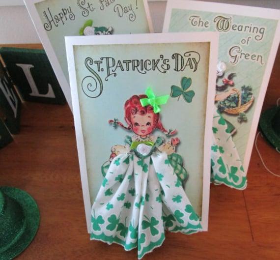 St. Patricks Keepsake Hankie Cards