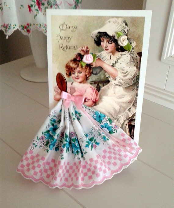 Mother and Daughter Keepsake Hanky Card