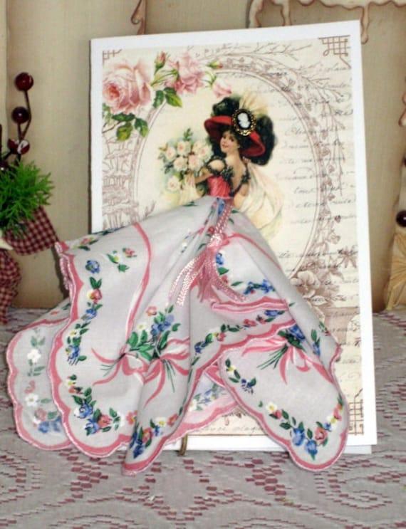 Romantic Lady Keepsake Hanky Card