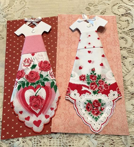 Valentine Hankie Dress Greeting Card