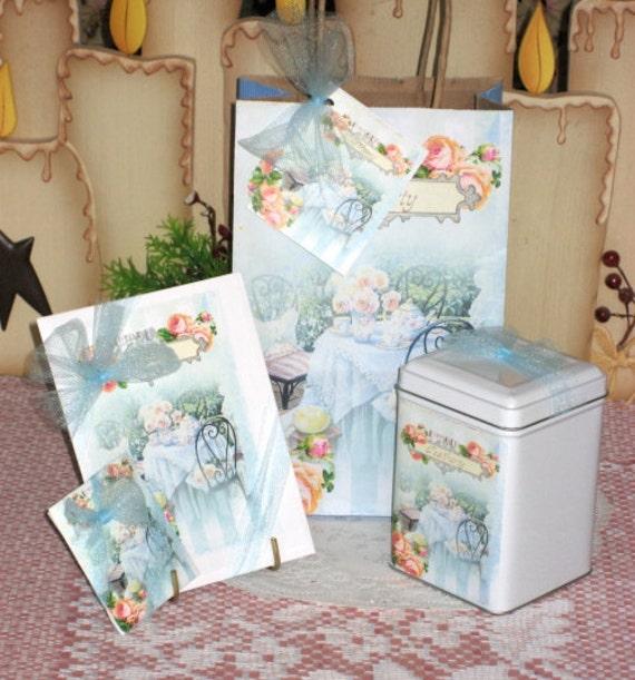 Garden Tea Gift Bag Set
