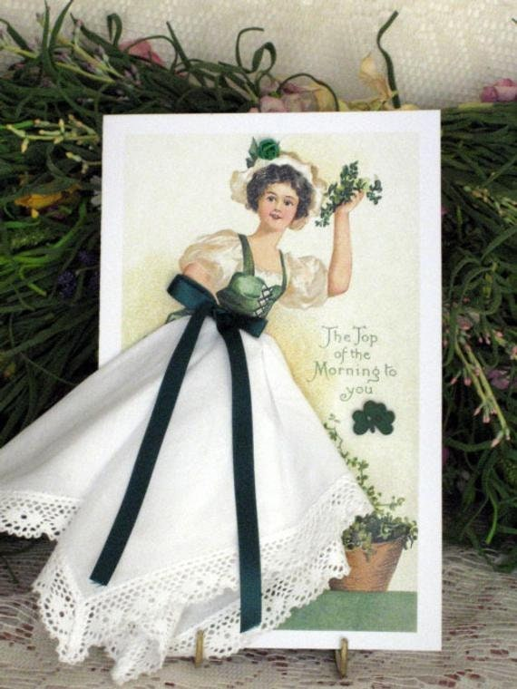 Top Of The Morning To You Keepsake Hankie Card