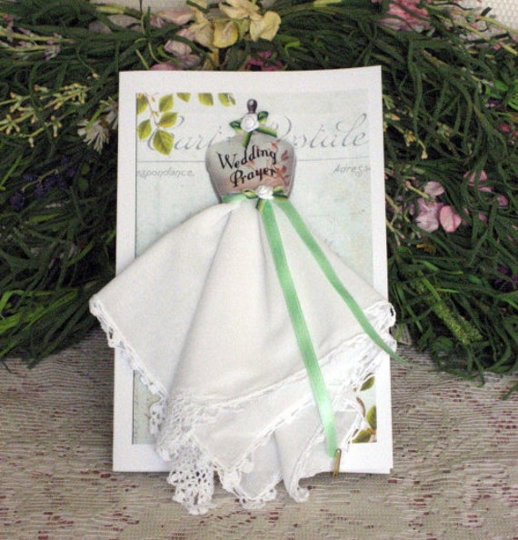Wedding Prayer Keepsake Hanky Card