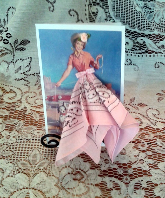 Cowgirl Pinup Hanky Card