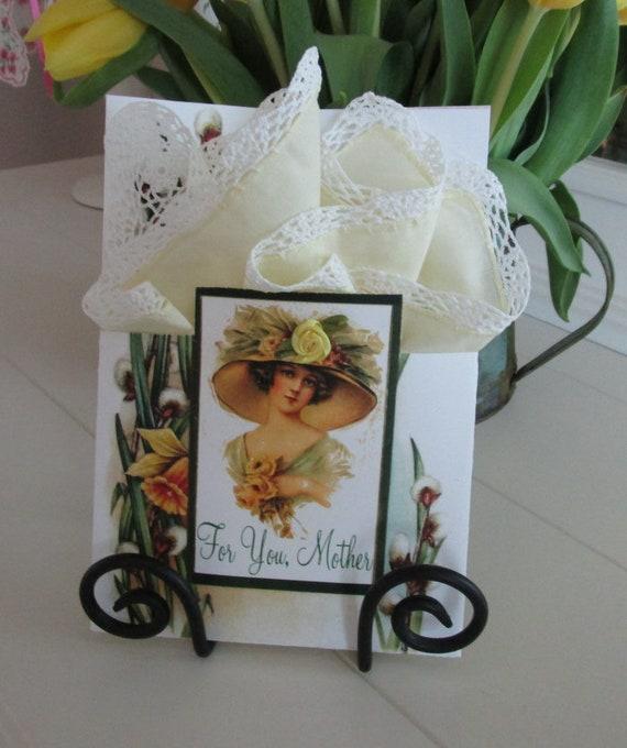 For You Mother Keepsake  Hankie Card