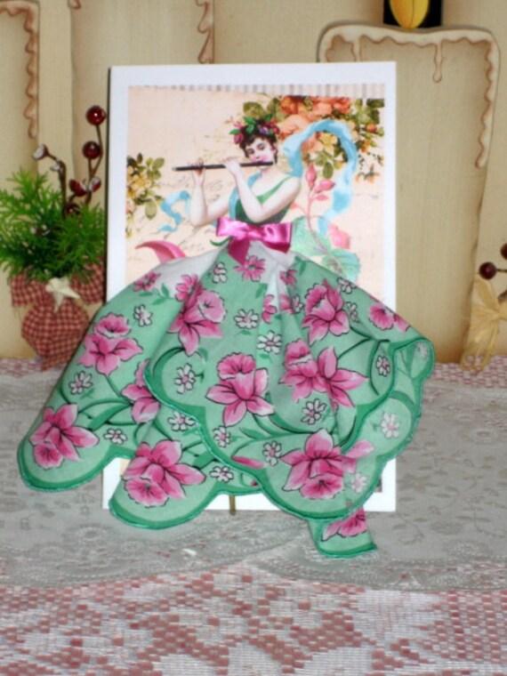 Flute Fairy Keepsake Hankie Card