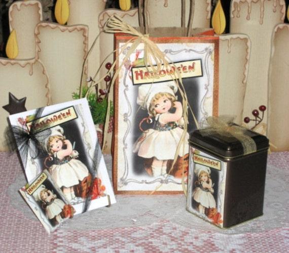 Little Darling Halloween Gift Bag Set