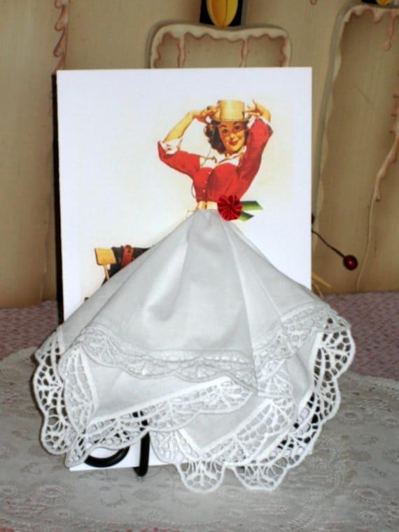 Cowgirl Keepsake Hanky Card