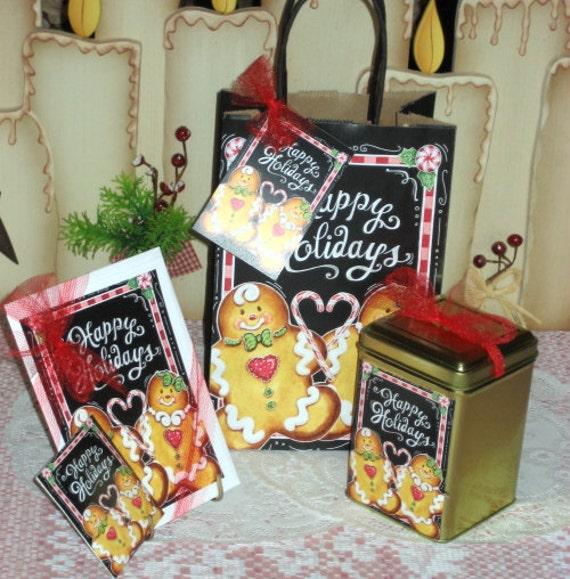 Gingerbread Gift Bag Set