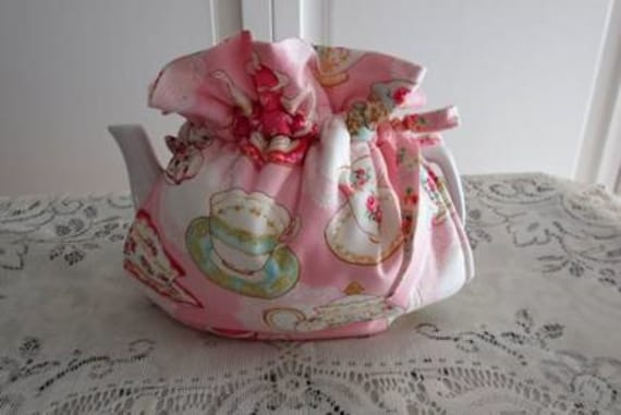 Pink Teacups Tea Cozy