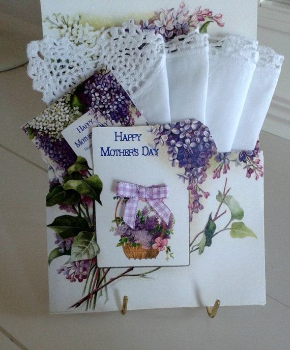 Mother's Day Lilac Keepsake Hanky Card