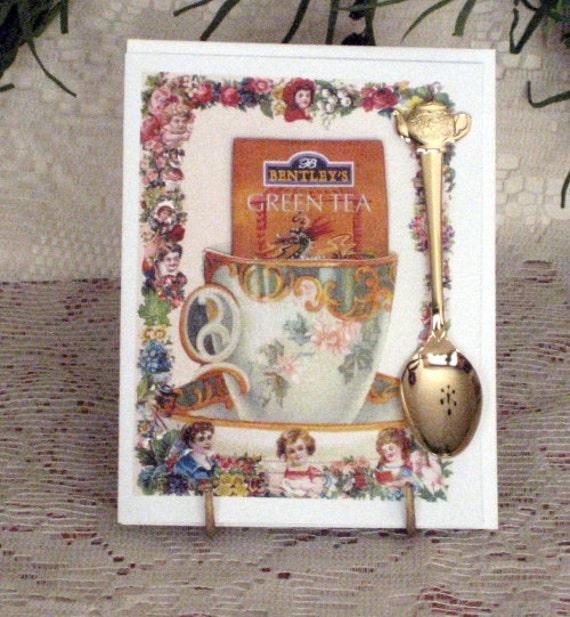 Keepsake Teaspoon Card China Teacup
