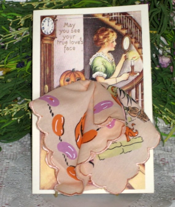 Halloween Greeting Keepsake Hanky Card