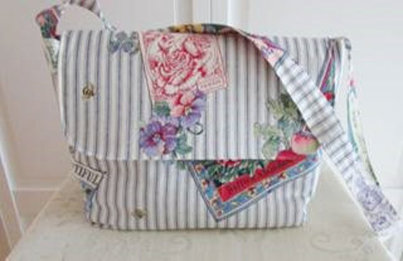 Ticking Stripe Seed Packet Purse