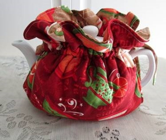 Holiday Teacups Tea Cozy