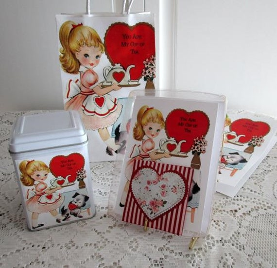 Gift Bag Set Valentine You Are My Cup of Tea