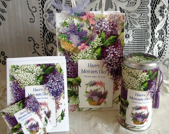 Mother's Day Gift Bag Set When The Lilacs Bloom