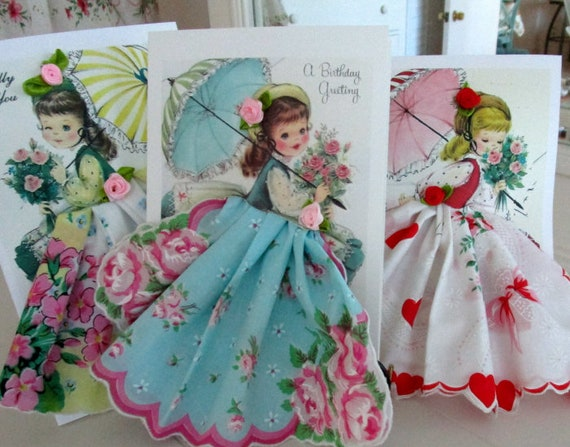 Little Lady Keepsake Hankie Cards