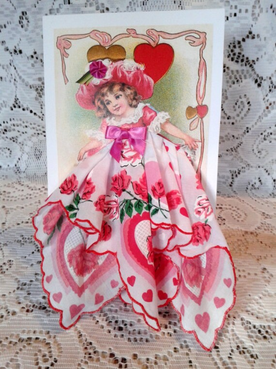 Let Me Be Your Valentine Keepsake Hanky Card