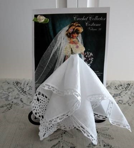 1908 Bride Fashion Keepsake Hanky Card