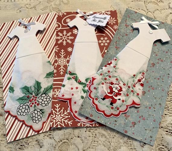 Christmas Hankie Dress Greeting Card