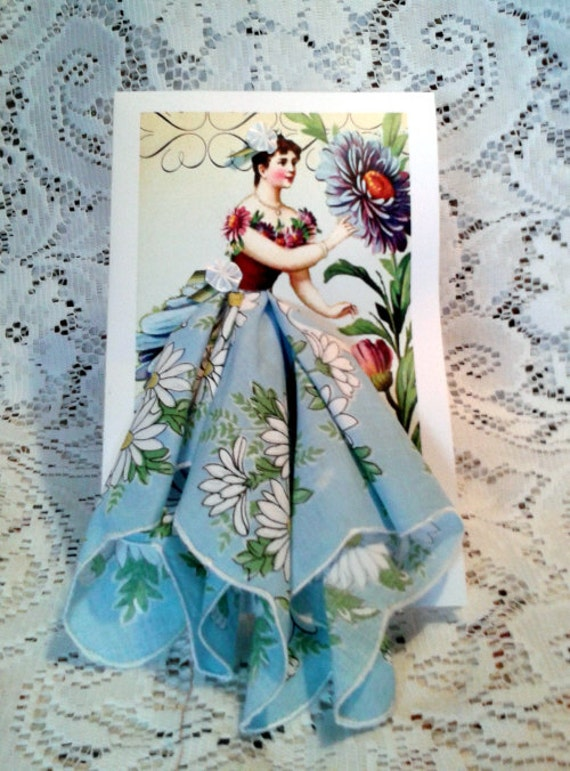 Daisy Fairy Hanky Card