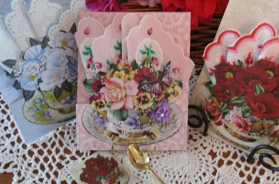 Friendship Teacup Hankie Cards