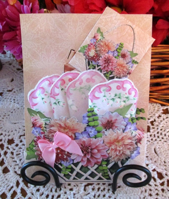 Lattice Baskets Hankie Card  for All Occasions