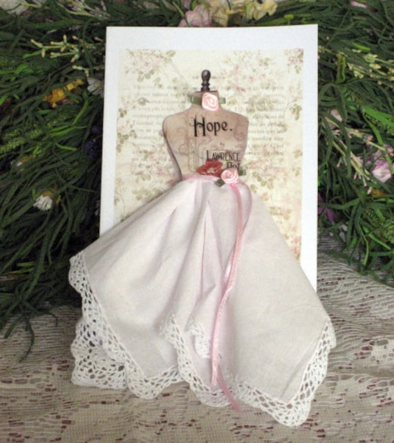 Hope Dress Form Hanky Card
