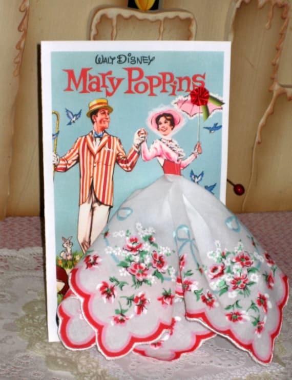Mary Poppins Hanky Card