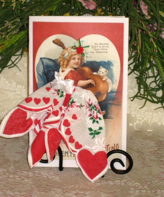 My Devoted Heart Keepsake Hanky Card