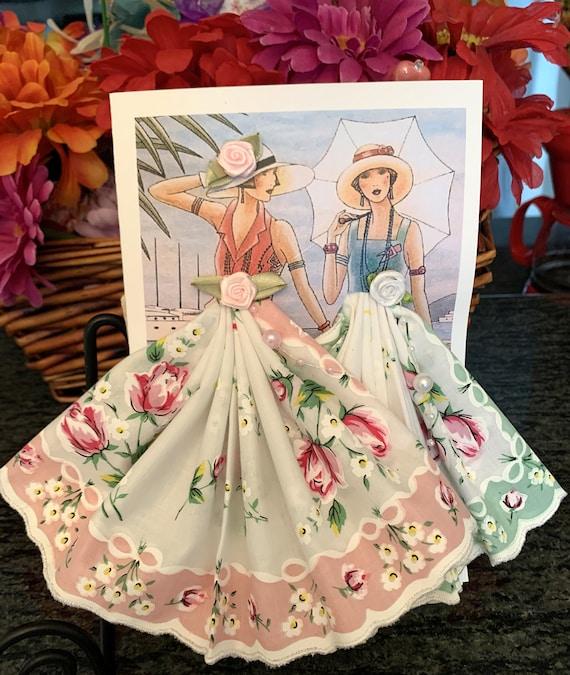 Art Deco Keepsake Hankie Card