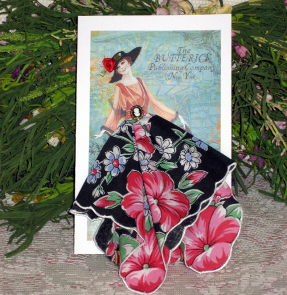 Butterick Fashion Keepsake Hanky Card