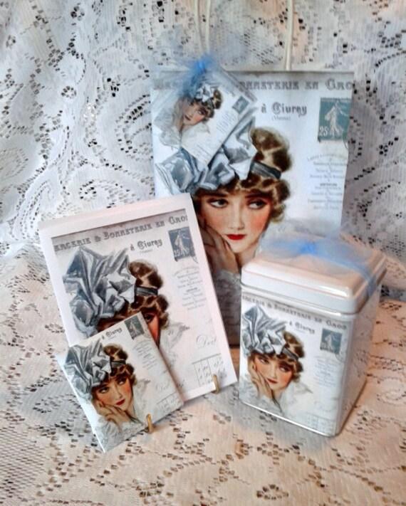 Lady in Blue Gift Bag Set