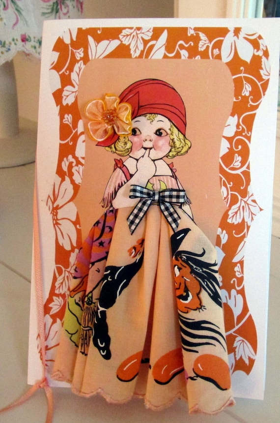 Wanda The Witch Paper Doll Hanky Card