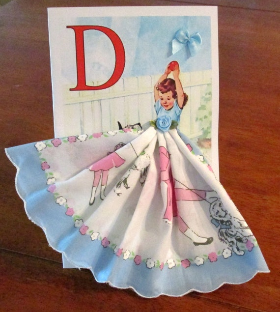 Retro  Card Keepsake Hanky Card